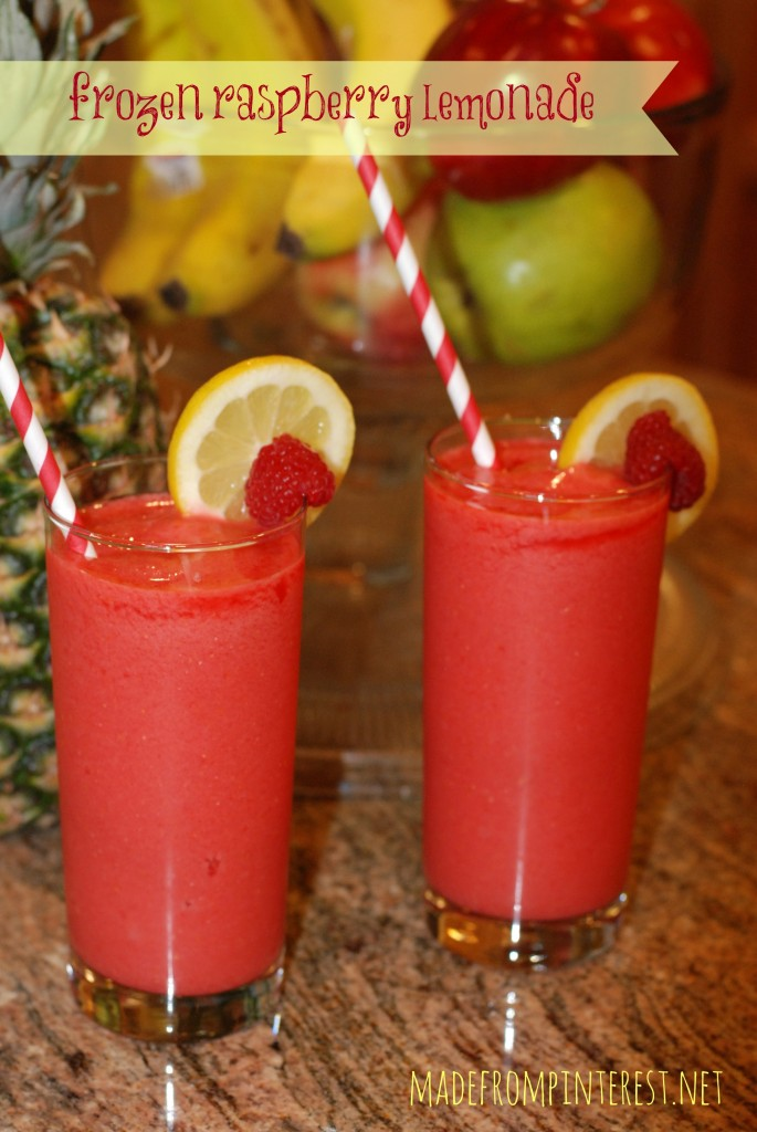 Frozen Raspberry Lemonade.  You know you want one!  madefrompinterest.net