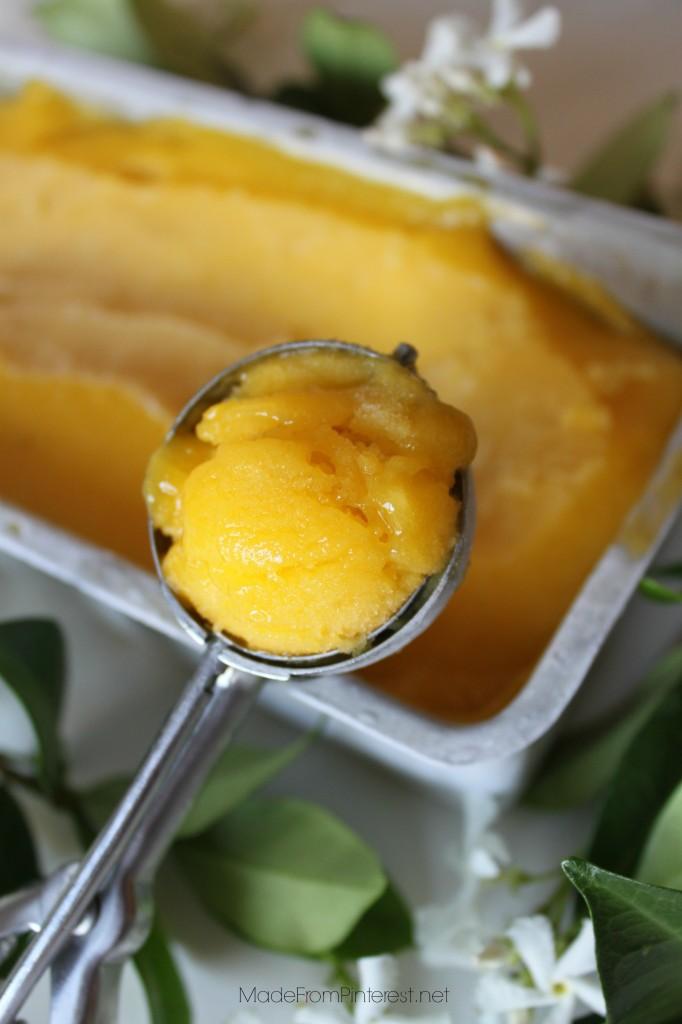 Mango Sorbet Recipe. MadeFromPinterest.net