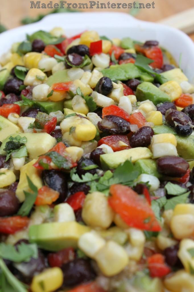 Corn and Black Bean Salsa with Lime Cilantro Vinaigrette. Bring a copy ...