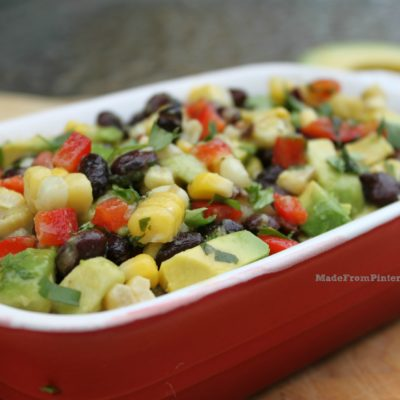 Corn and Black Bean Salsa with Lime Cilantro Vinaigrette