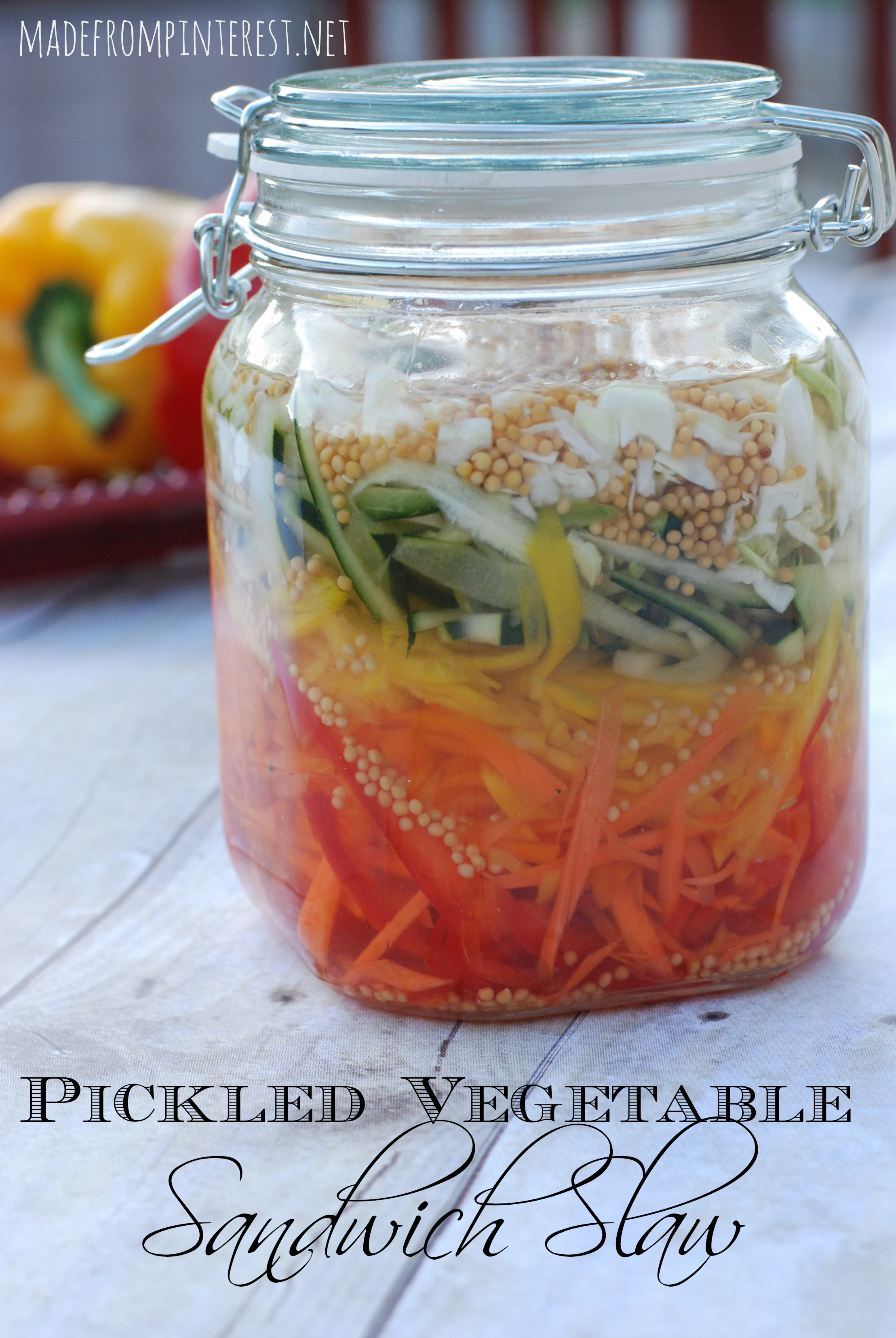 Make a killer sandwich with this Pickled Vegetable Sandwich Slaw. Outstanding! madefrompinterest.net