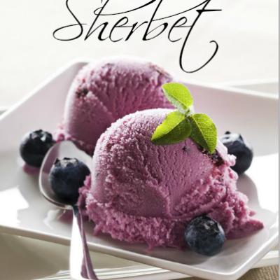 Blueberry Buttermilk Sherbet