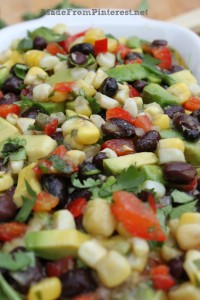 You won't have any leftovers if you bring this Corn and Black Bean Salsa with Lime Cilantro Vinaigrette! And bring the recipe with you, 'cause they are going to ask. Recipe at MadeFromPinterest.net
