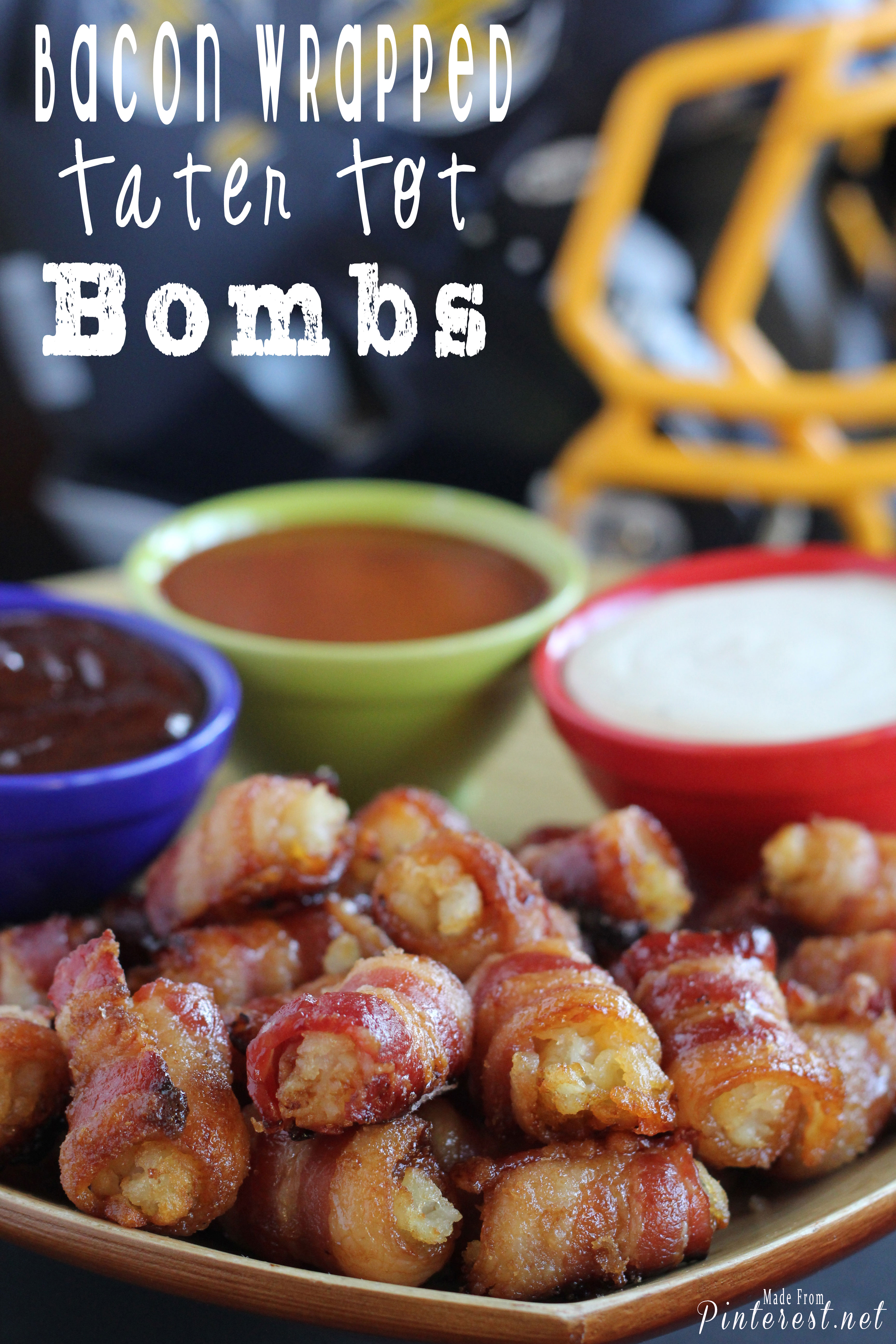 bacon wrapped tator tot bombs