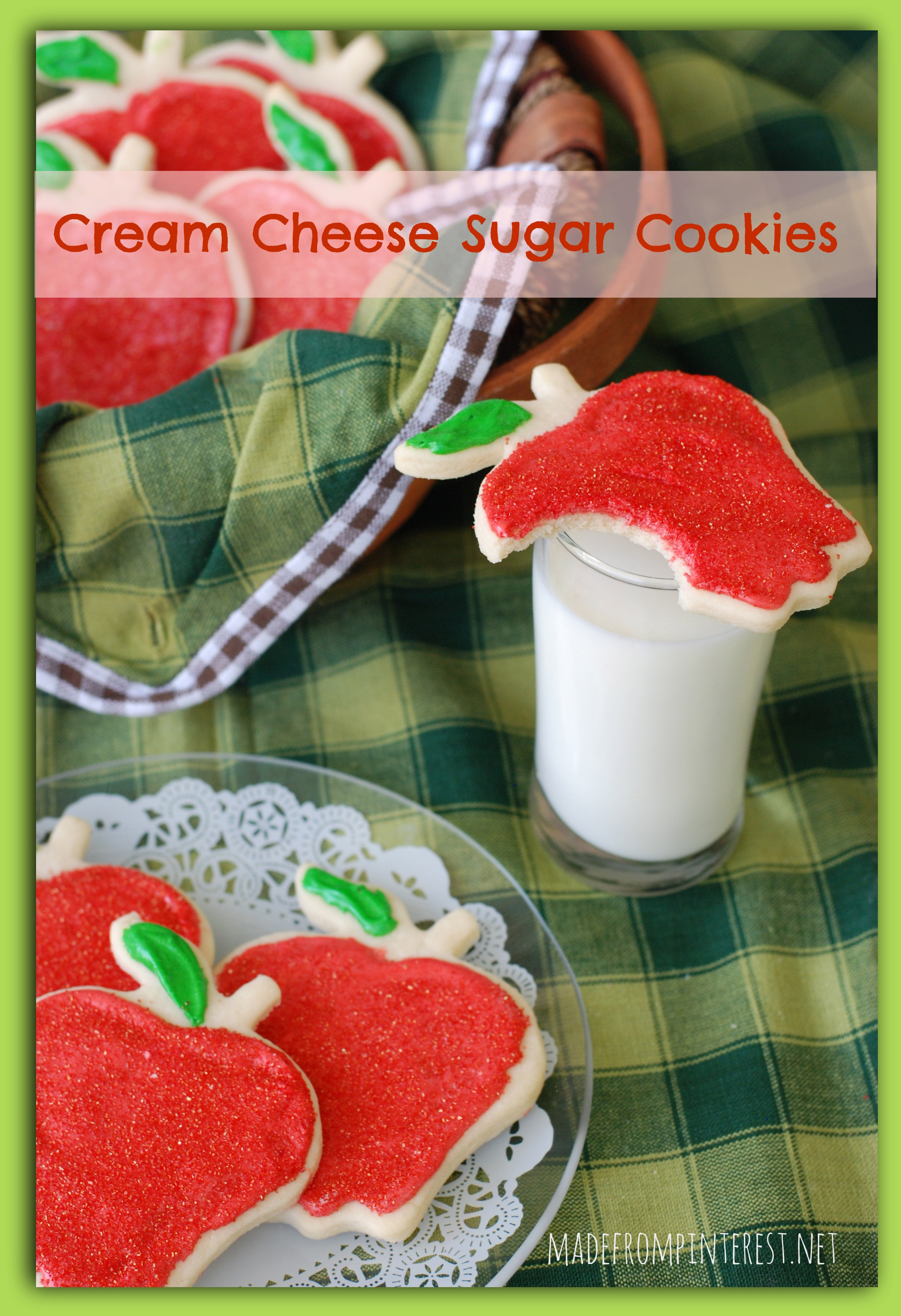 Cream Cheese Sugar Cookies. Perfect after school snack! madefrompinterest.net