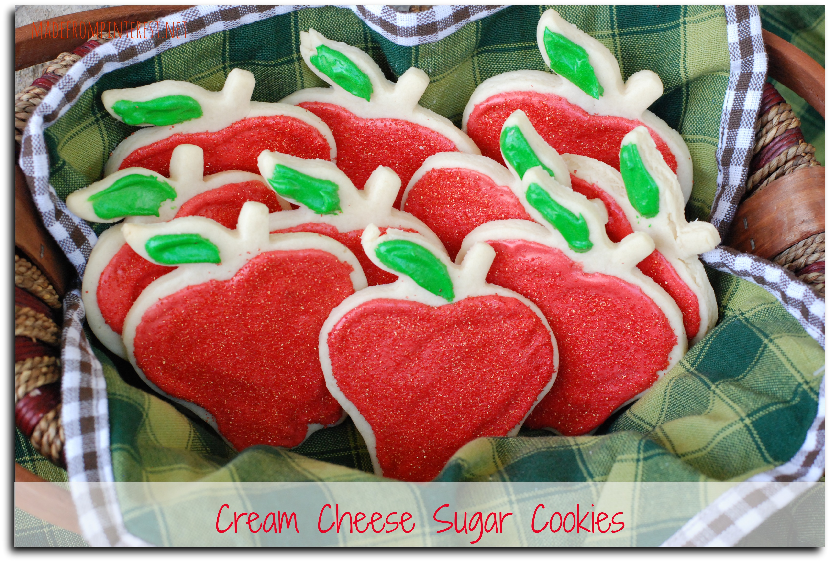 Cream Cheese Sugar Cookies. Soft and moist - make some for when your kids come home from school today! madefrompinterest.net #cookies