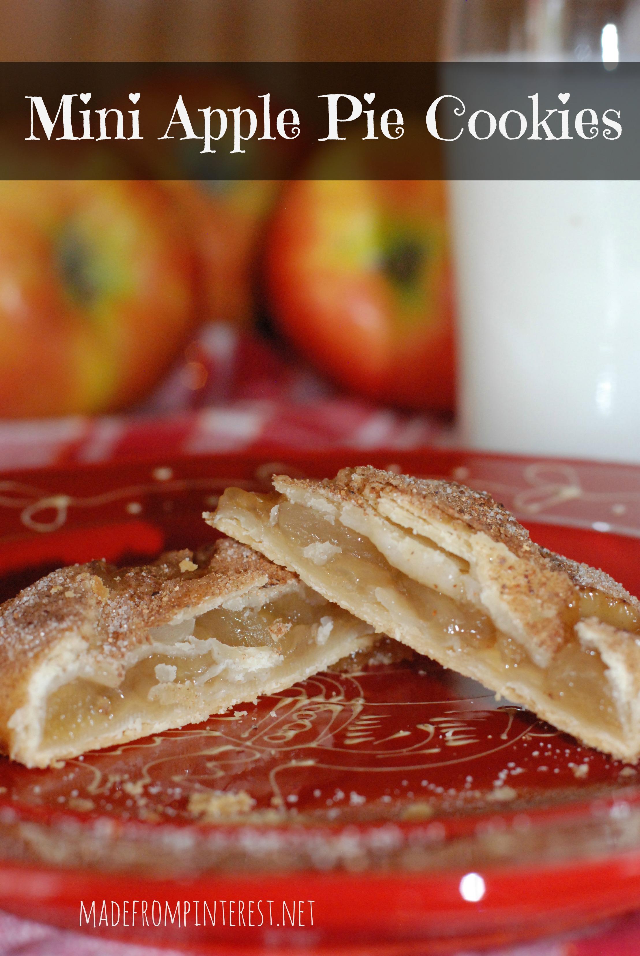 Apple Pie Leaking Mini Apple Pie Cookies