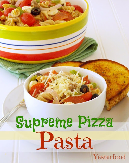 Supreme Pizza Pasta by Yesterfood