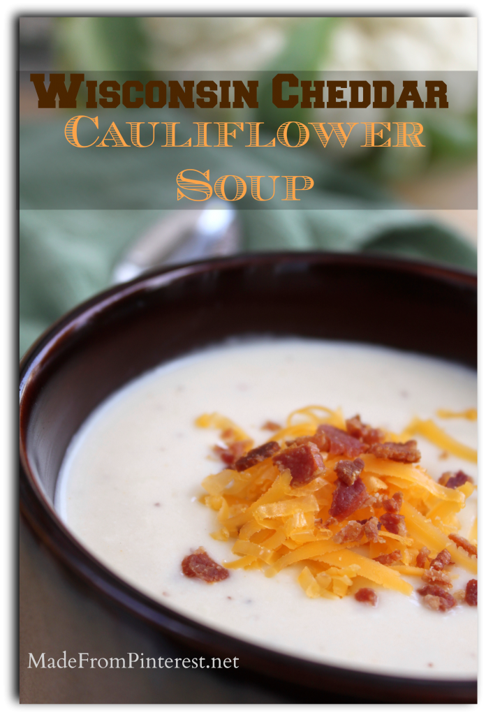 This tasted like wow and felt in my mouth like mmmm! #Wisconsin #Cheddar #Cauliflower #Soup