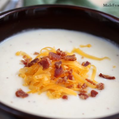 Wisconsin Cheddar Cauliflower Soup