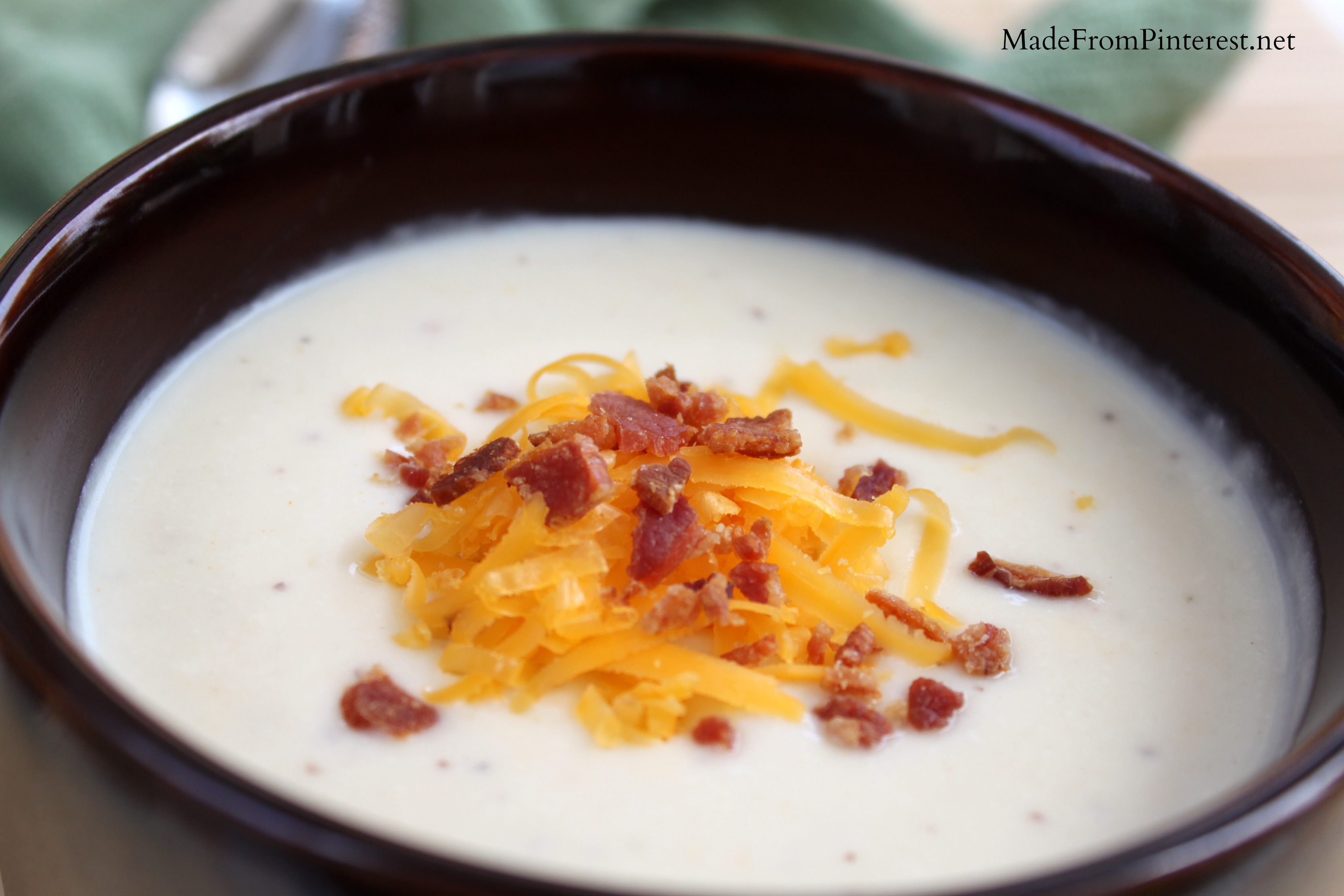 Wisconsin Cheddar Cauliflower Soup Tgif This Grandma Is Fun