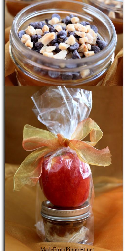 Apple dip collage