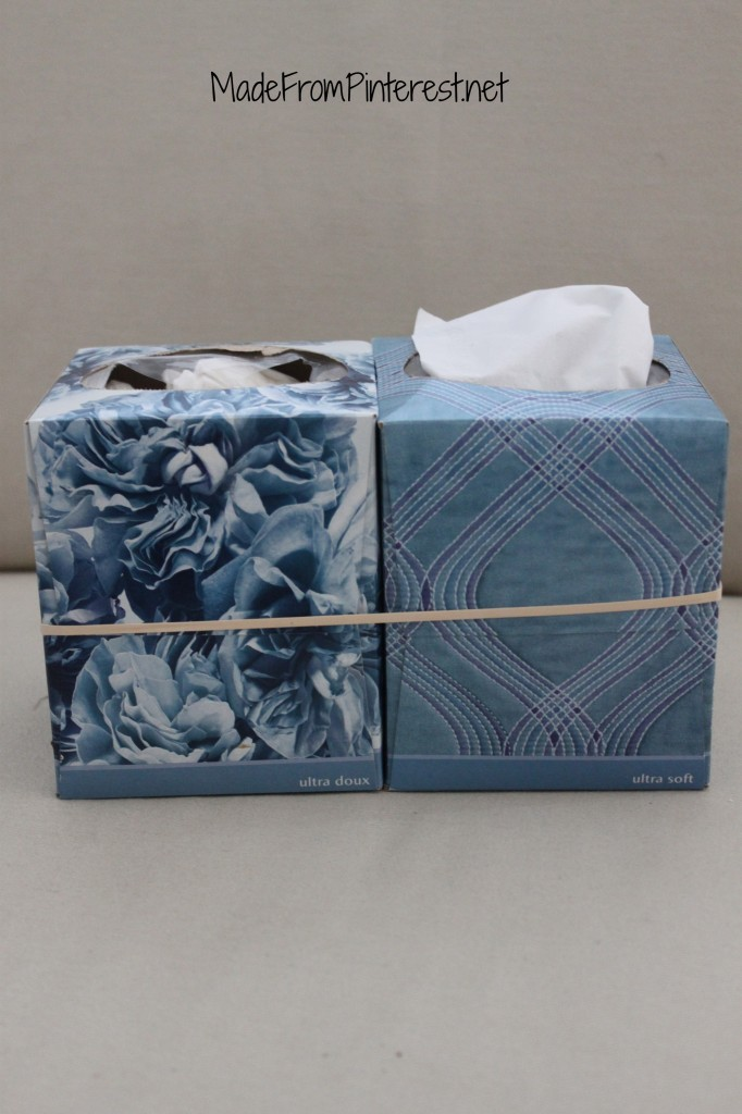 This idea didn't work. It is hard to get the dirty tissues out and sometimes you pull a tissue out of the wrong box!