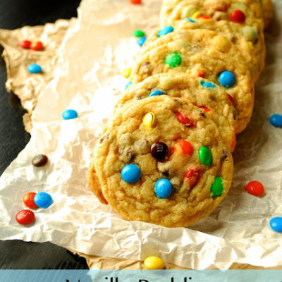 Vanilla Pudding M&M Cookies