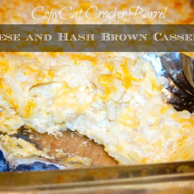 CopyCat Cracker Barrel Cheese and Hash Brown Casserole