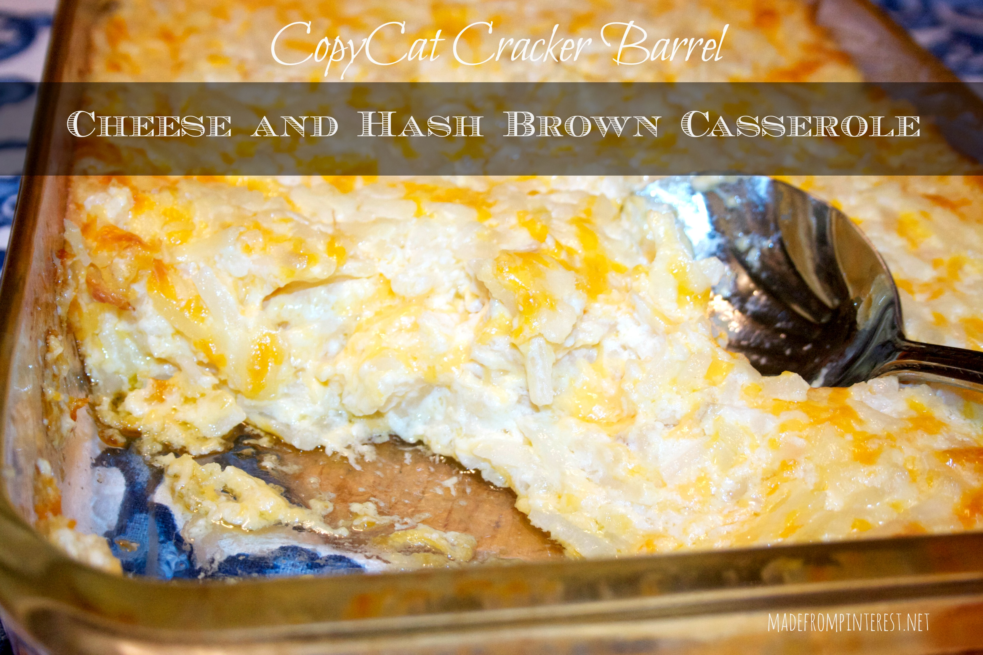 best recipe for cracker barrel hashbrown casserole