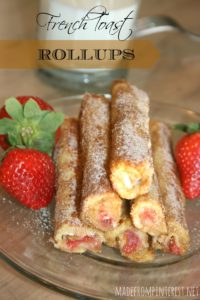 French Toast Rollups!  A new twist on an old favorite!  From MadeFromPinterest.net
