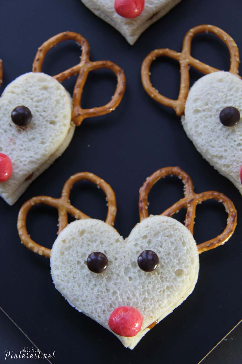 Rudolph The Red Nosed Reindeer Sandwiches - These adorable sandwiches only take minutes to make. The adults enjoyed them just as much as the kids did! #Christmas #Rudolph The Red Nosed Reindeer #Recipe #Sandwich