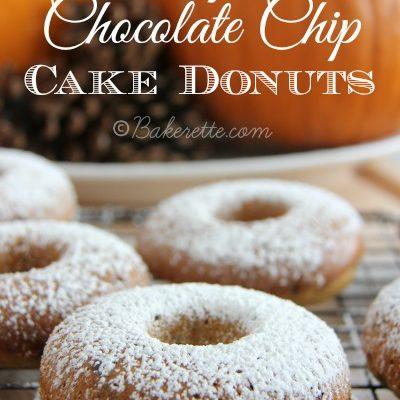 Pumpkin Chocolate Chip Cake Donuts