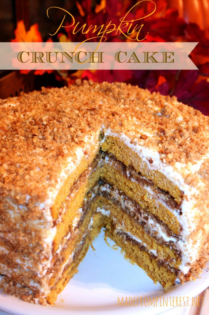 Pumpkin Crunch Cake with Cream Cheese Frosting From MadeFromPinterest ...