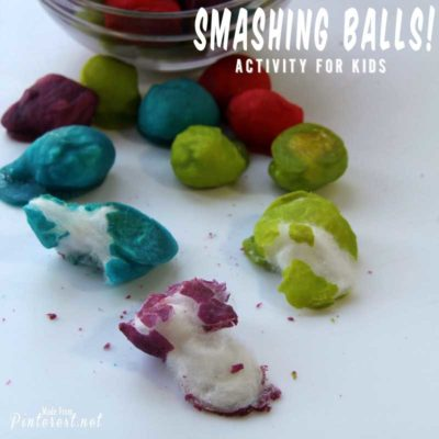 Smashing Balls (Baked Cotton Balls)