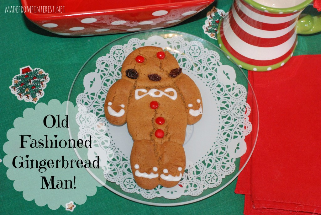 This recipe is from a great grandmother from Germany. Not your normal rollout-cutout Gingerbread Man Cookie! MadeFromPinterest.net