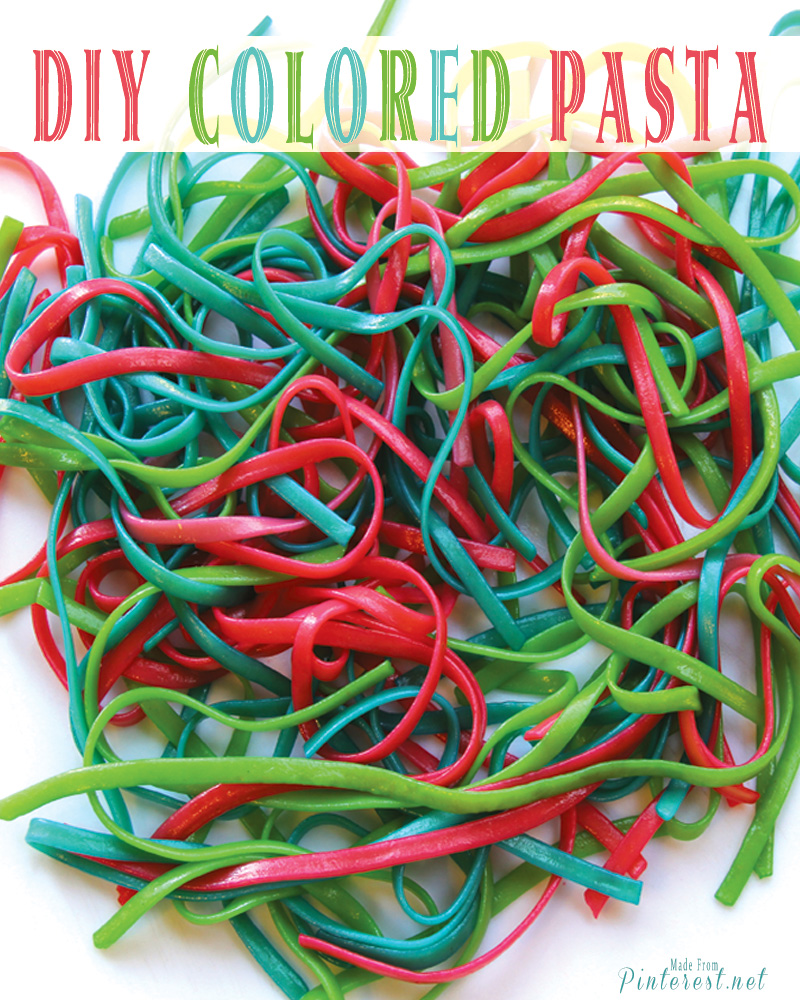 Colored Pasta - Surprise your kids with fun colored pasta. This is a great way to teach little ones about the color wheel! #Recipe #Pasta #Kids Activity