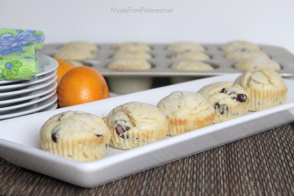Cranberry Orange Muffins - Buttermilk makes them tender.
