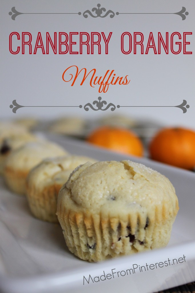 Cranberry Orange Muffins - Made with fresh buttermilk. Batter can be frozen in paper muffin cups and baked later.