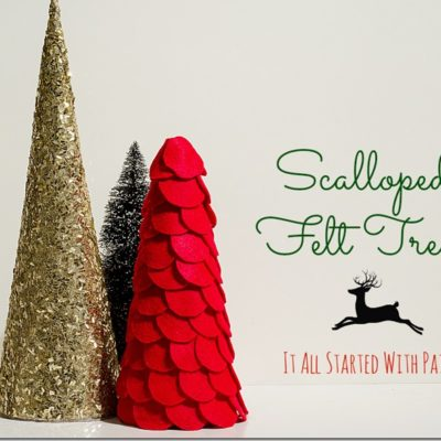 Scalloped Felt Trees