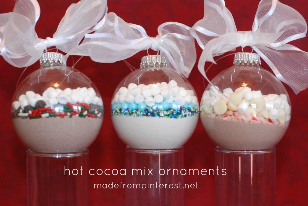 Hot Cocoa Mix Ornaments.  Super quick to make