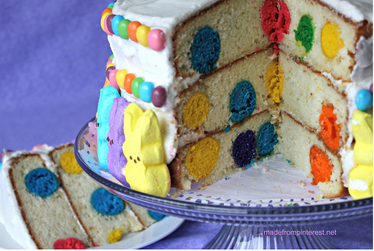 Polka Dot Cake - Made and tested by 3 Pinterest crazy sisters! This cake totally ROCKS!