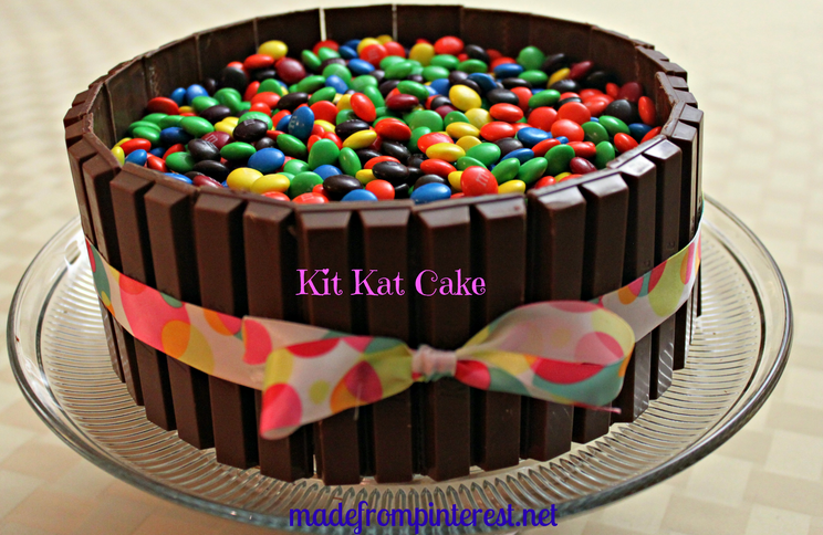 Kit Kat Cake - Made and tested by 3 Pinterest crazy sisters! This cake totally ROCKS!