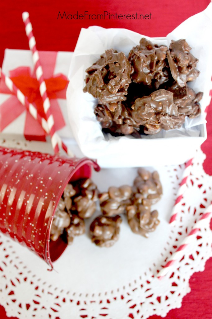 Two recipes for Crock Pot Candy - Makes 150 pieces each of either chocolate or chocolate butterscotch. Perfect for gift giving.