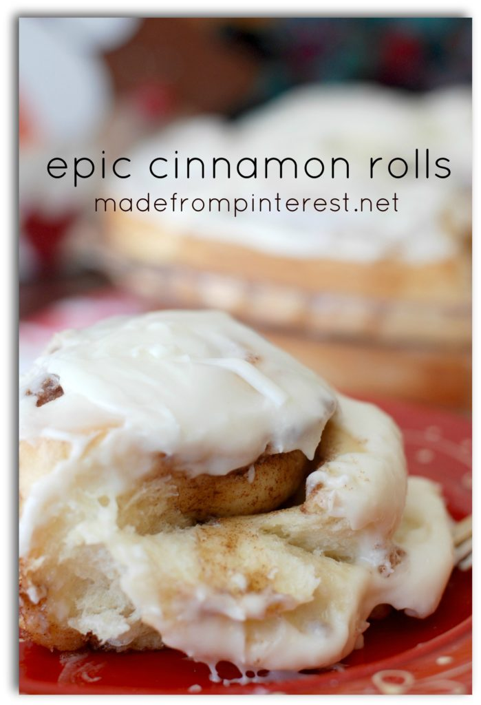 Warm, gooey and cinnamony! Epic Cinnamon Rolls madefrompinterest.net