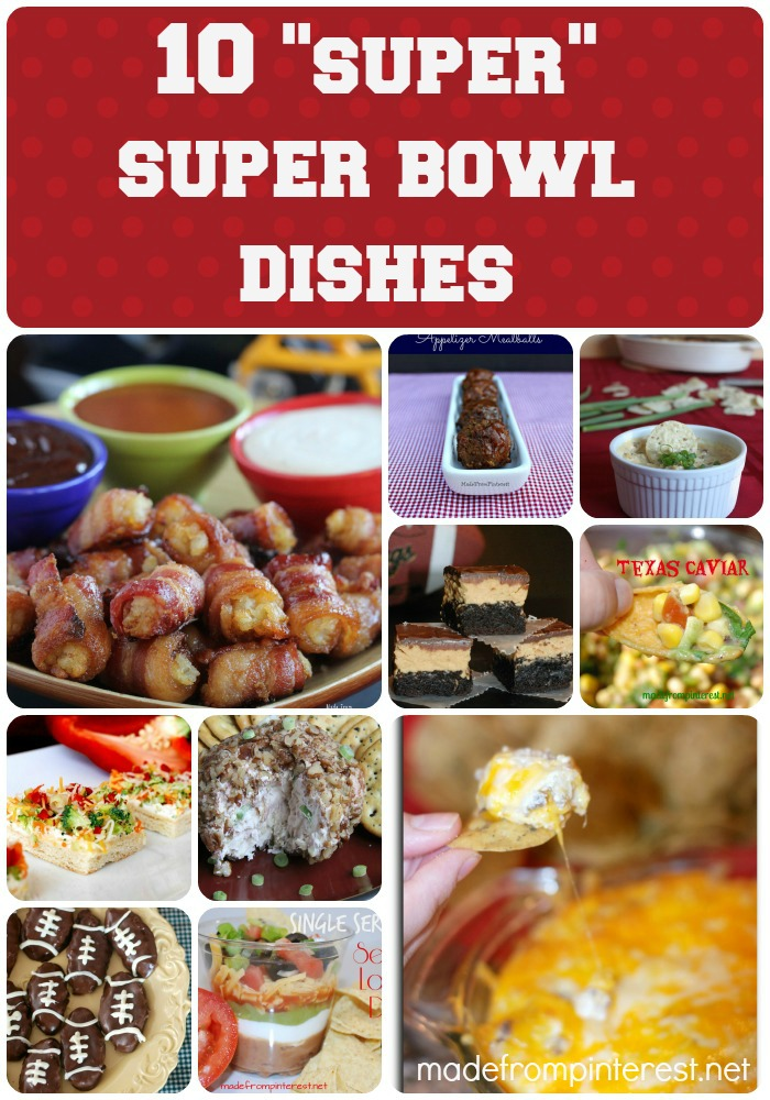 Don't miss these dishes for your Super Bowl!  madefrompinterest.net