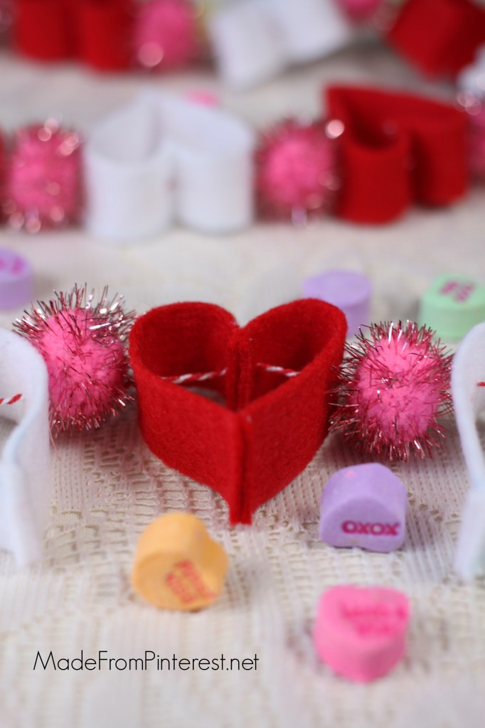 Felt Heart Garland - Easy to do and stinkin' cute!.