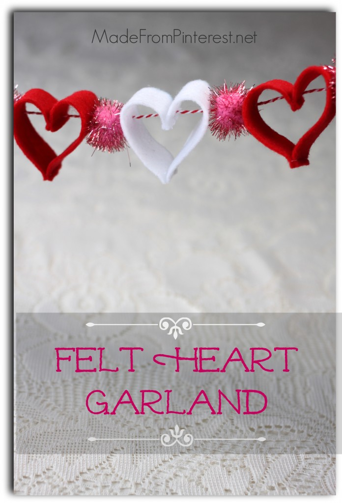 Felt Heart Garland - Great way to hang some love!