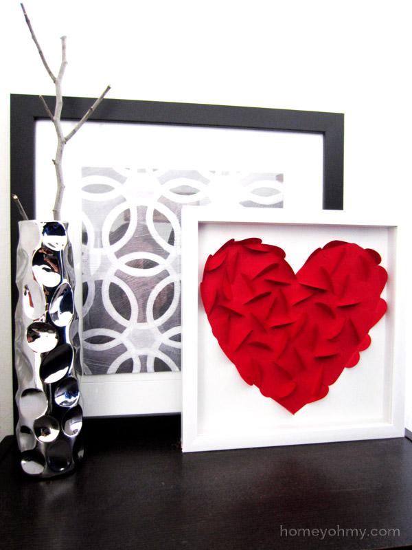 Home Me Oh My valentine heart art