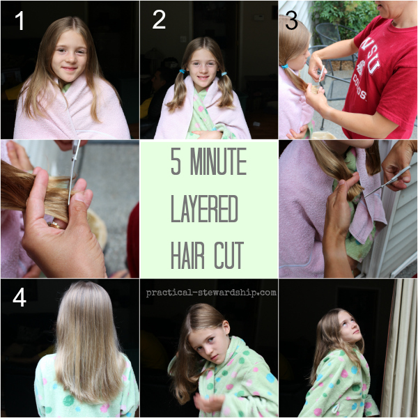 Practical Stewardship diy layered haircut