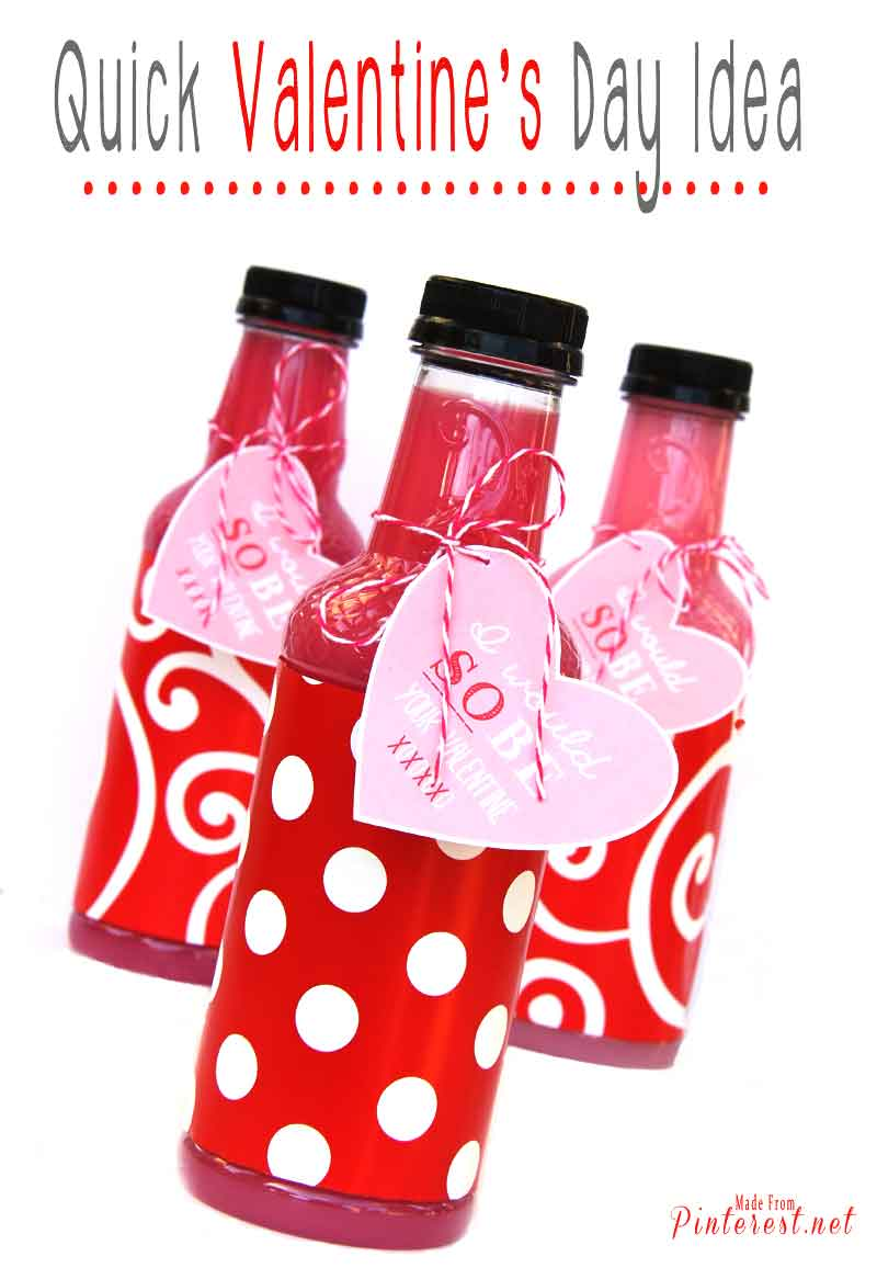 Quick Valentines Day Idea - Use some wrapping paper and a Sobe to make a quick and cute valentine gift. #Valentine's Day #Valentine #Sweetheart
