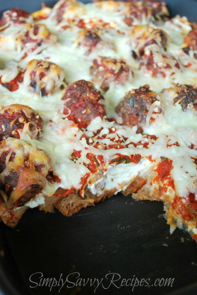 Simply Savvy Recipes meatball sub casserole