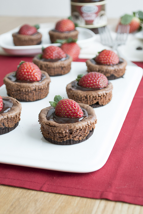 The First Year Blog mini chocolate strawberry cheesecakes