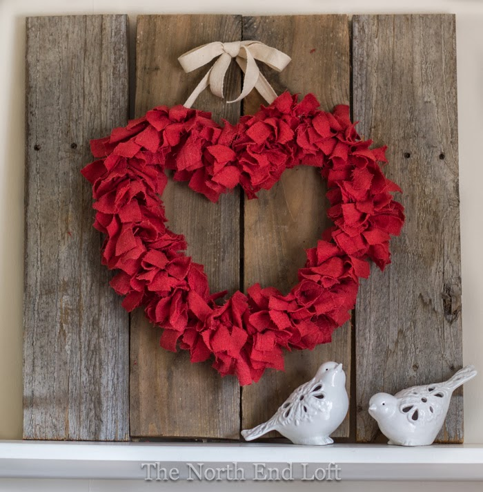 The North End Loft heart rag wreath
