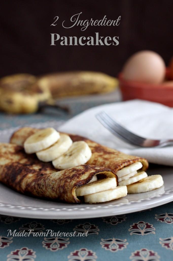 2 Ingredient Pancake Crepes - 2 ingredients = ideal breakfast