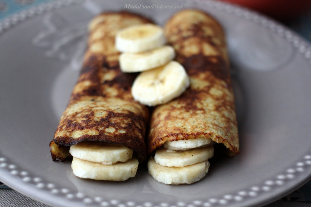 2 Ingredient Pancake:Crepes are as suprisingly delicious as they are healthy!
