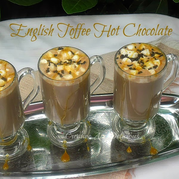 Creative and Delecious toffee hot chocolate