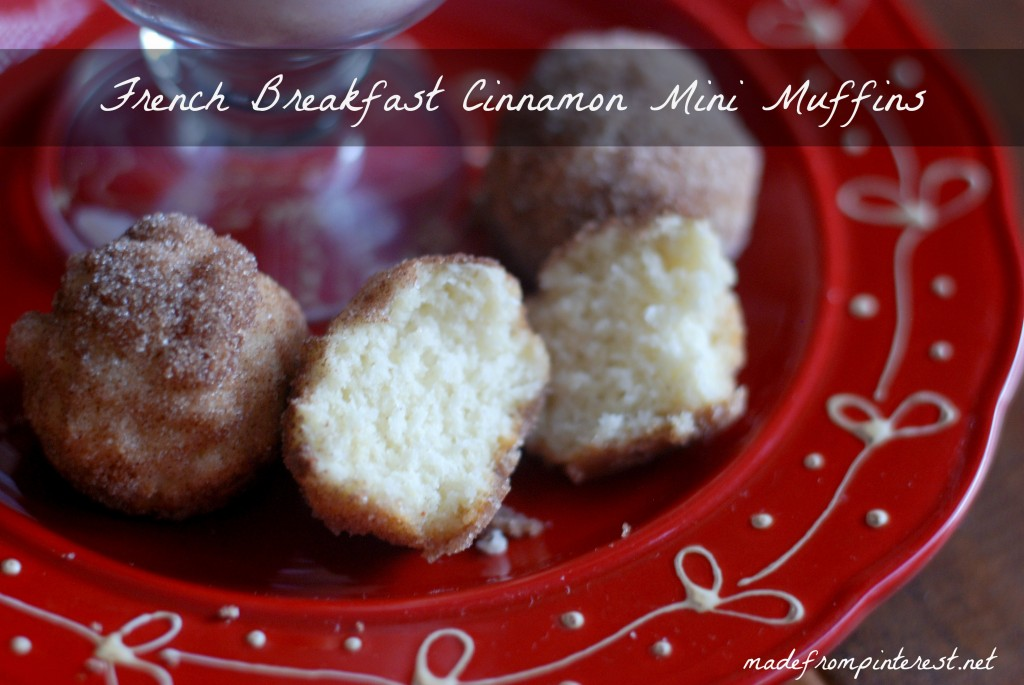 French Country Cinnamon Mini Muffins. Perfect to dunk in hot chocolate!