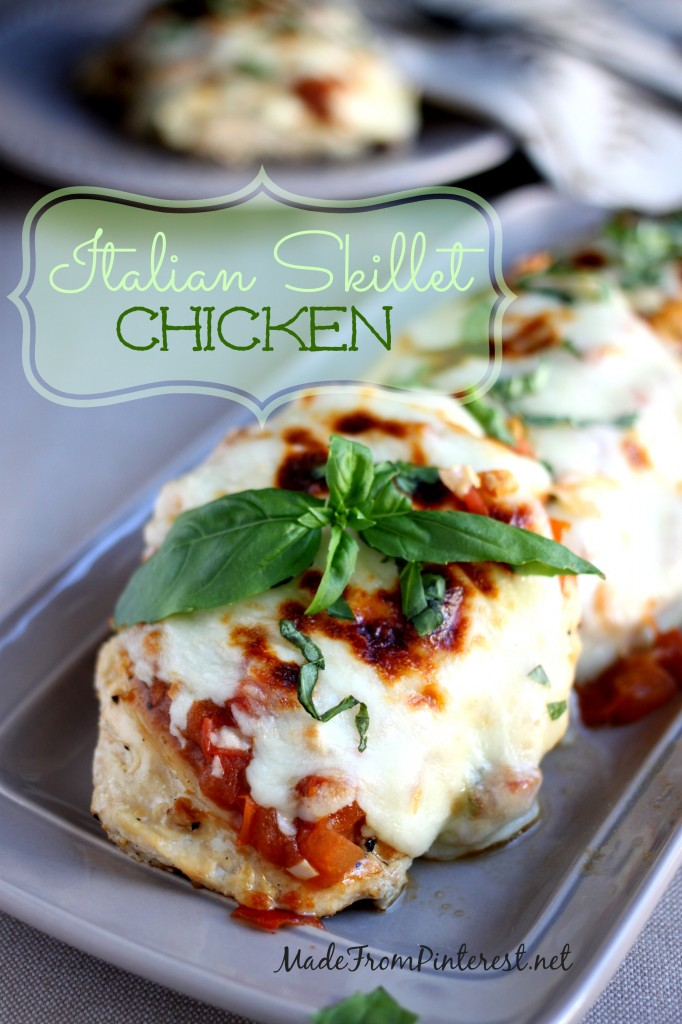 Italian Skillet Chicken - Simple, fresh ingredients make a perfect 30 minute meal.