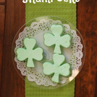 Jello Ice Cream Shamrocks